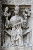 Relief at the baptistry from Parma, Italy — Foto de Stock