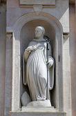 Statue of saint, church of Saint John the Evangelist. Parma. Italy — Stock Photo
