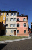 Colourful houses, Parma, Italy — Stock Photo