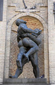 Hercules and Hanteus, Parma, Emilia Romagna, Italy — Stock Photo
