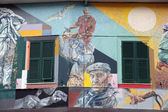 Murals of the painter Silvio Benedetto, on May 02, 2014 in Riomaggiore, Italy — Foto de Stock