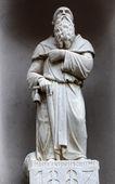 Saint Anthony the Great, street sculpture, Riomaggiore, Liguria, Italy — Foto de Stock
