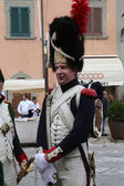 The Italian island where Napoleon was sent into exile in 1814 marked the 200th anniversary of the emperor's arrival on Sunday with a re-enactment by enthusiasts from across Europe. Portoferraio, Italy — Stock Photo