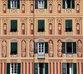 Colorful pastel houses in sea village of Portofino, Liguria, Italy — Stock Photo