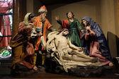 Deposition of Christ, Mary Magdalene, St. John, Joseph of Arimathea and the Virgin of Sorrows — Stock Photo