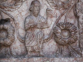 Detail of marble carvings on the Baptistery, Parma, Italy — Stock Photo