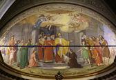 Fresco the Church of Saint Martin, Portofino, Italy — Foto de Stock