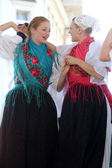 Members of folk groups Veseli Medimurci from Croatia during the 48th International Folklore Festival in center of Zagreb,Croatia on July 16, 2014 — Stock fotografie