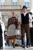 Salgotarjan センターのザグレブ、クロアチア 2014 年 7 月 19 日に 48 の国際民俗祭の間にハンガリーからの民族グループ nograd のメンバー — ストック写真