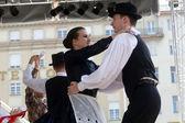 Salgotarjan, Macaristan Merkez Zagrep, Hırvatistan 19 Temmuz 2014 tarihinde 48 Uluslararası Folklor Festivali sırasında gelen halk grupları nograd üyeleri — Stok fotoğraf