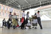 Members of folk group Hasselt (Flanders), Folk Group De Boezeroenen from Belgium during the 48th International Folklore Festival in center of Zagreb — Stockfoto
