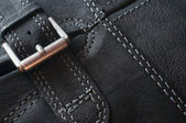 Abstract black leather background — Stockfoto