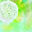 Christmas ball on the blurred background — Stock Photo