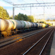 Tanks with fuel  by rail - Foto de Stock