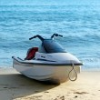 Backlit jet ski on the beach — Stock Photo