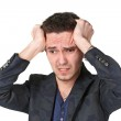 Portrait of upset young man — Stock Photo