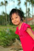 Cute little asian girl smiling — Stock Photo