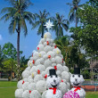 Christmas design tree  in tropics — Stock Photo