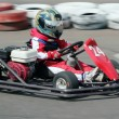 Young racer on circuit — Stock Photo #3470976