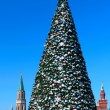 New year tree on Red square. Moscow — Stock Photo