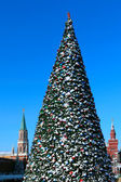 New year tree on Red square. Moscow — Foto Stock