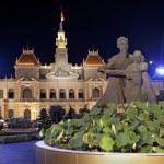 Night scene of the Ho Chi Minh City Hall. Vietnam — Stock Photo #38430413