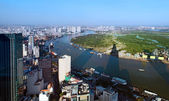 View of Ho Chi Minh City from Bitexco financial tower. — Stock Photo