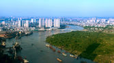 View of Ho Chi Minh City from Bitexco financial tower. — Foto Stock