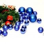 Lots of blue Christmas balls — Stock Photo #2350986