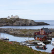 Norwegian fishing houses — Stock Photo