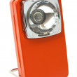 Orange retro flashlight — Stock Photo