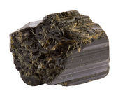 Tourmaline mineral isolated on white — Stock Photo