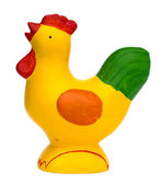 Crowing chicken — Stock Photo