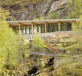Geiranger fjord center — Stock Photo