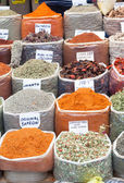 Spices and Herbs in Market — Stock Photo