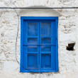 Aged Blue Window - Stock Photo