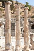 Ancient columns in Ephesus, Turkey — Stock Photo