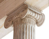 Capital of Greek neoclassical ionic column — Stock Photo