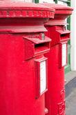Британский Красный почтовый ящик — Стоковое фото