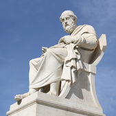Statue of Plato in Athens — Stock Photo