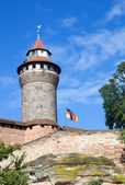 Sinwell Tower at Nuremberg Imperial Castle — Stock Photo