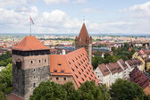 Towers in Nuremberg castle — Stock Photo
