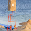 Watchtower on a beach — Stock Photo