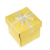 Beyaz altın hediye kutusu — Stok fotoğraf