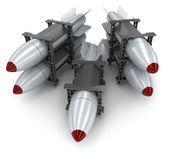Five rockets — Stock Photo