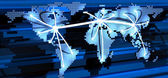 Globale telekommunikation — Stockfoto