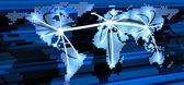 Wereldwijde telecommunicatie — Stockfoto