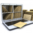Laptop and many mail — Stock Photo #14083487