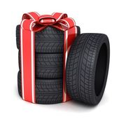 Gift tires — Stock Photo