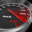 Royalty-Free Stock Photo: Car Speedometer